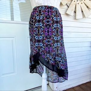 Disney D-Signed Floral Chiffon High-Low Skirt